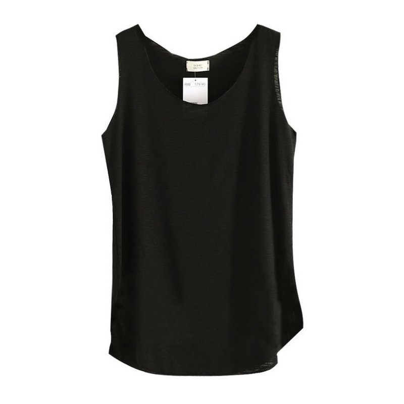 2017 baju musim panas wanita buluh kapas tanpa lengan pusingan leher - Pakaian wanita - Foto 4