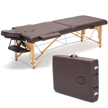 Brand Professional Poldable Spa Massage Tables Physical Therapy Leather Bed Portable Imported Beech Wood Beauty Massage Table(China)