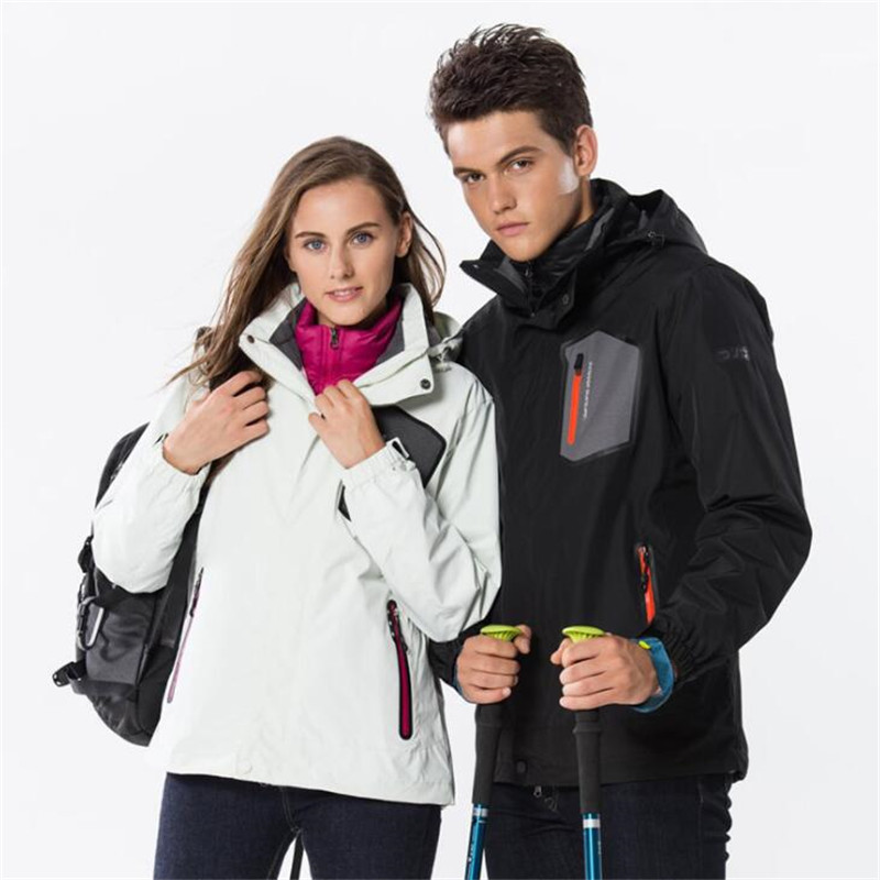 Free Shipping-Boojee NEW Lover Winter Outdoor Wind/Waterproof Breathable Warm Down Jacket Liner Hiking 3in1 Fleece Jackets  9918