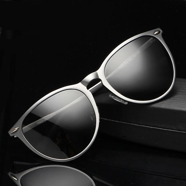 Hight qualidade de alumínio em liga de magnésio Polarized Sunglasses Men Sun condução óculos ao ar livre acessórios Sport Eyewear Oculos