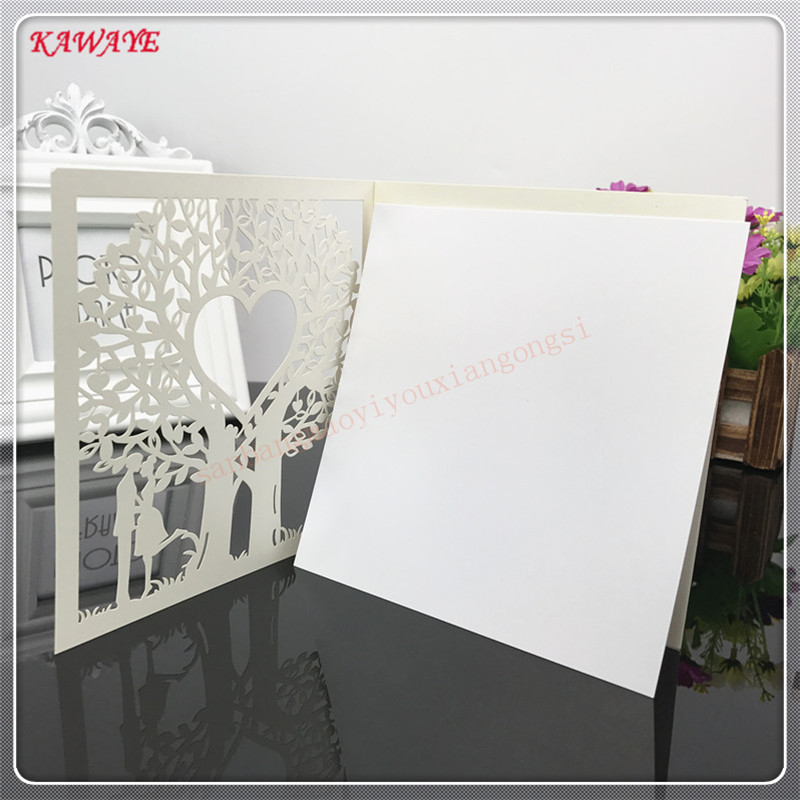 24pcs Creative Love Hollow Business Invitation Card Luxury Laser Cut Wedding Invitations Birthday Greeting Card Postcard 6ZXH18