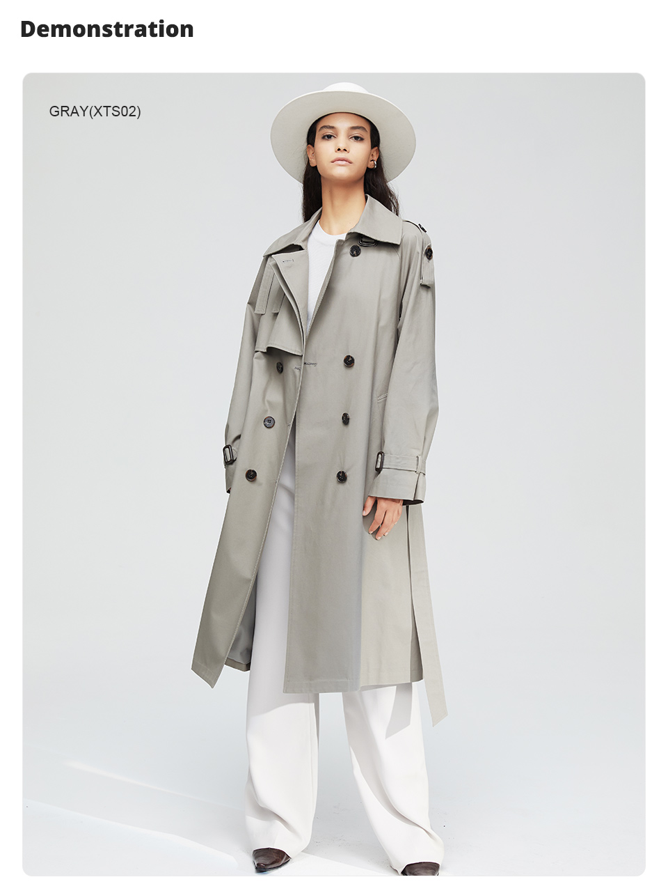 JAZZEVAR 19 New arrival autumn top trench coat women double breasted long outerwear for lady high quality overcoat women 9003 7