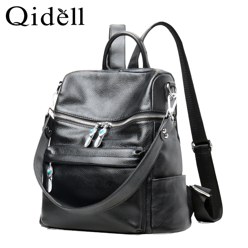 The First Layer Leather Shoulder Bag/ Large Capacity Fashion Female Genuine Leather Backpack amelie galanti ms backpack fashion convenient large capacity now the most popular style can be shoulder to shoulder many colors