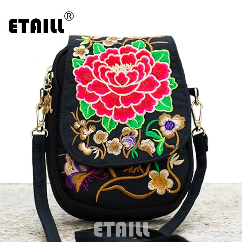 Hmong ethnische Boho Hobo Stickerei Käufer Tasche Schulter Marke - Handtaschen
