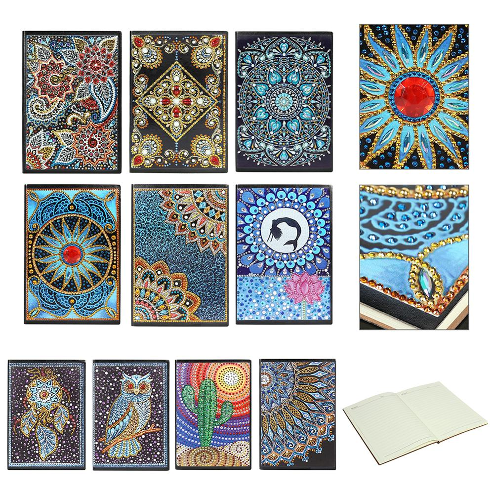 DIY Creative Special Shaped Diamond Painting Notebook Diary Book  A5 Notebook Embroidery Diamond Cross Stitch Craft Gift