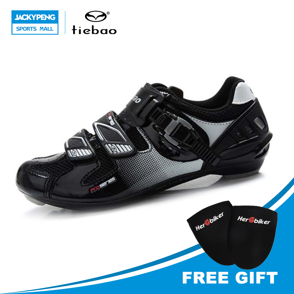 TIEBAO Professional Bicycle Cycling Shoes Road Bike Racing Self-Locking Shoes Men Women Breathable Outdoor Sports Athlet Shoes scoyco motorcycle riding knee protector extreme sports knee pads bycle cycling bike racing tactal skate protective ear