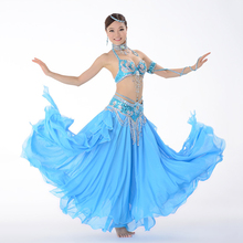 Belly Dance Costume Performance Belly Beading Cloth for Women Belly Dance Costumes Dance Bra, Belt, Skirt Clothing Sets