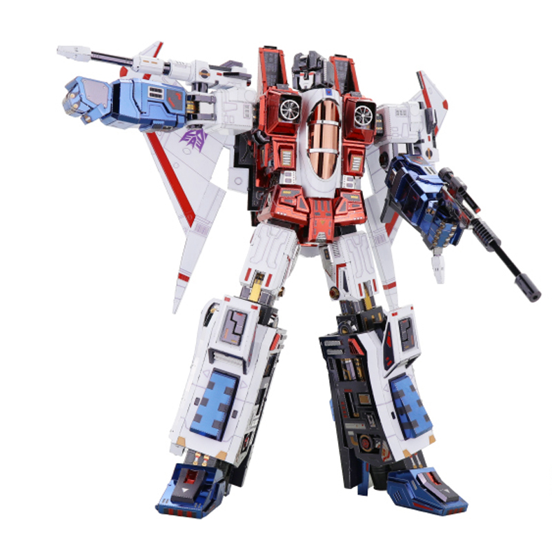 MU Starscream G1 3D Metal Model Kits DIY Assemble Puzzle Laser Cut Jigsaw Building Toy YM-L078