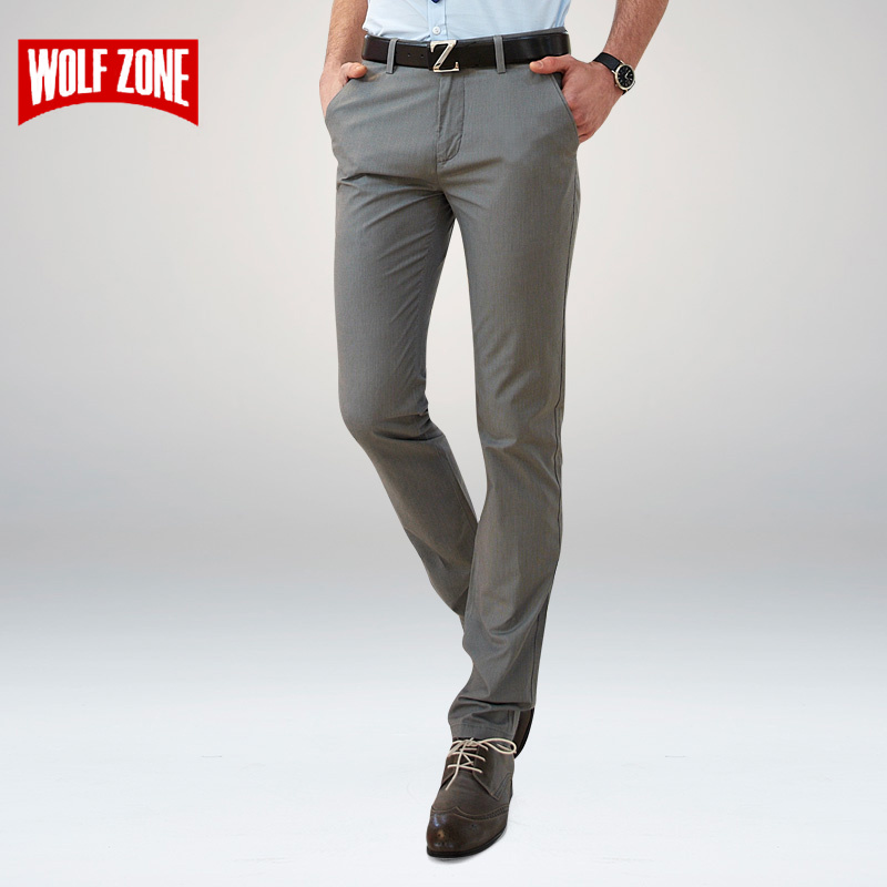 WOLF ZONE Clothing Casual Pants Mens Trousers Cotton