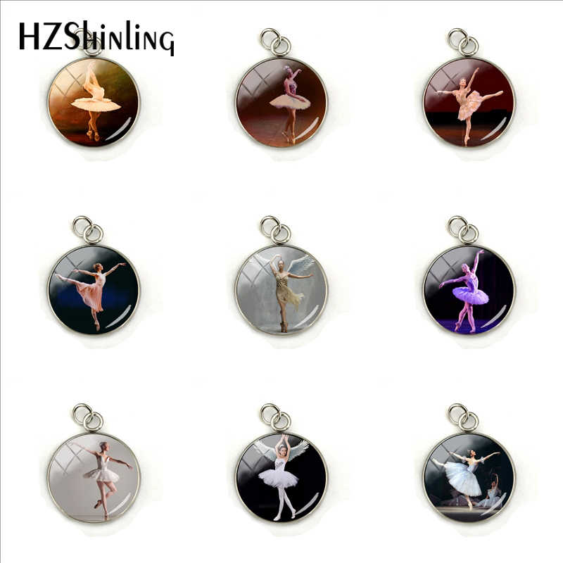 Gothic Ballerinas Printable Images for Pendants Glass Cabochon Dome Stainless Steel Plated Charm Hand Craft Jewelry Accessories