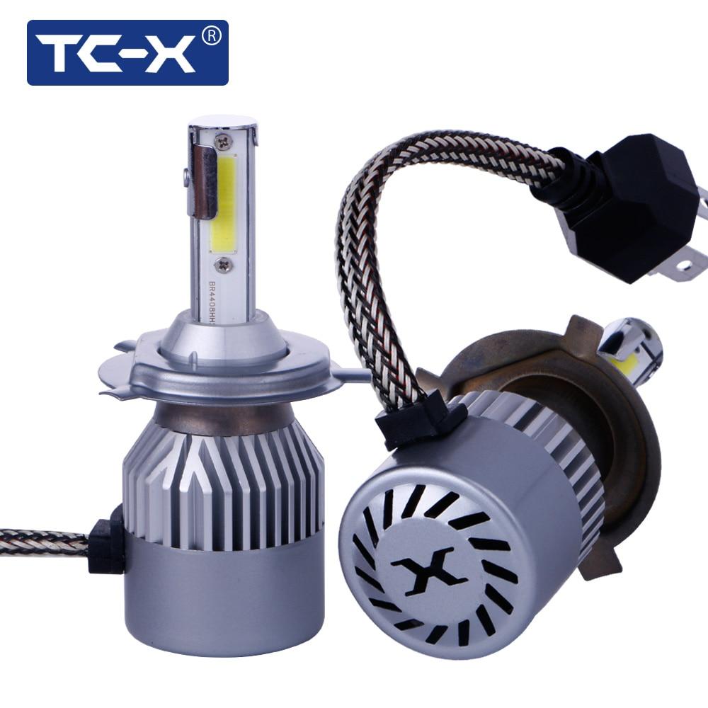 TC-X 2 Teile/los COB led-chips H4 H7 880 H1 H11 9005 9006 COB Auto Scheinwerfer 72 Watt 6000LM FÜHRTE Auto Scheinwerfer Lampe Nebelscheinwerfer Pure weiß