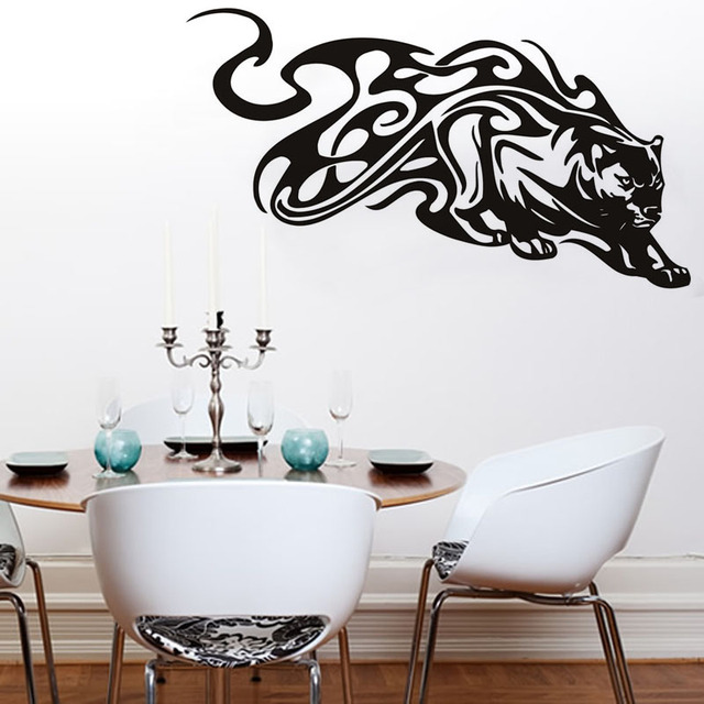 vente chaude amovible vinyl sticker animaux panther tribal