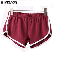 Womens AA Hot Sale Home Shorts Female Casual Sports Shorts Beach Short Fitness Cotton Elastic Waist