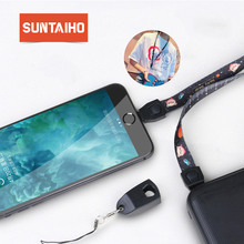 Suntaiho Lanyard fast charging Type C Cable for Xiaomi mi8 Galaxy S9 micro USB cable for Huawei for lighting charging cable