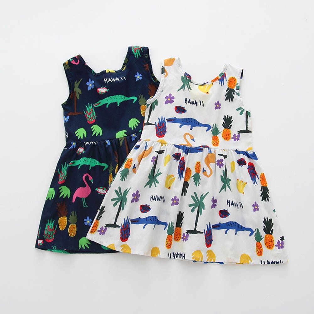 Sommer Baby Mädchen Kleid Party Hochzeit Prinzessin Kleider Ärmel Floral Cartoon Bogen Kinder Kleinkind Nette Kleidung vestido verano 5