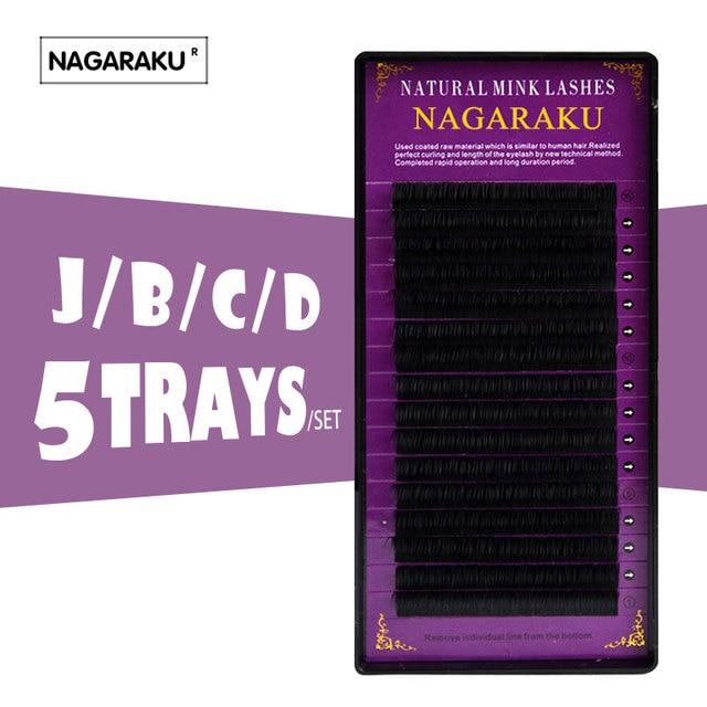 625d7b3c772 NAGARAKU 5 cases high quality extension of mink eyelashes individual lashes  natural lashes false fake eyelashes