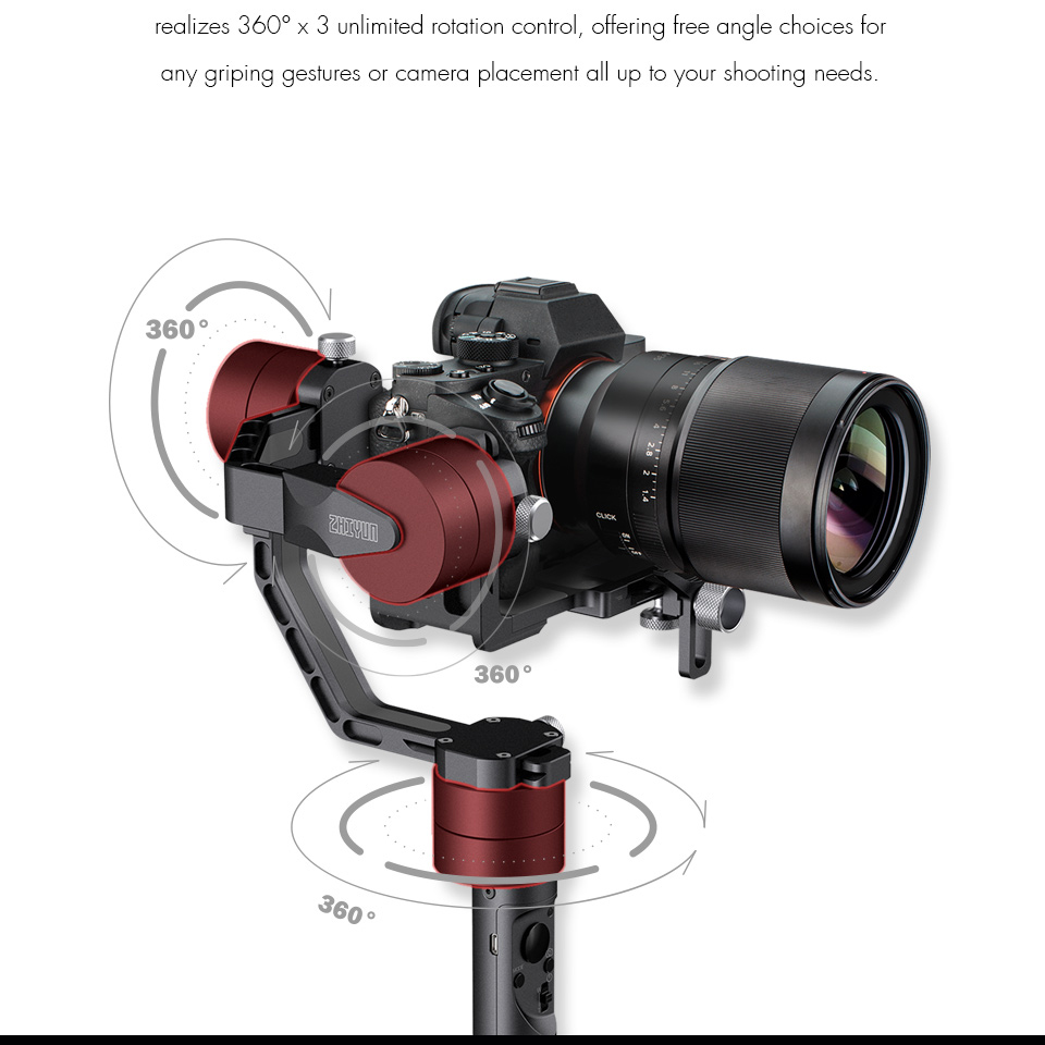 ZHIYUN Official Crane V2 3-Axis Brushless Handheld Gimbal Stabilizer Kit qualityl