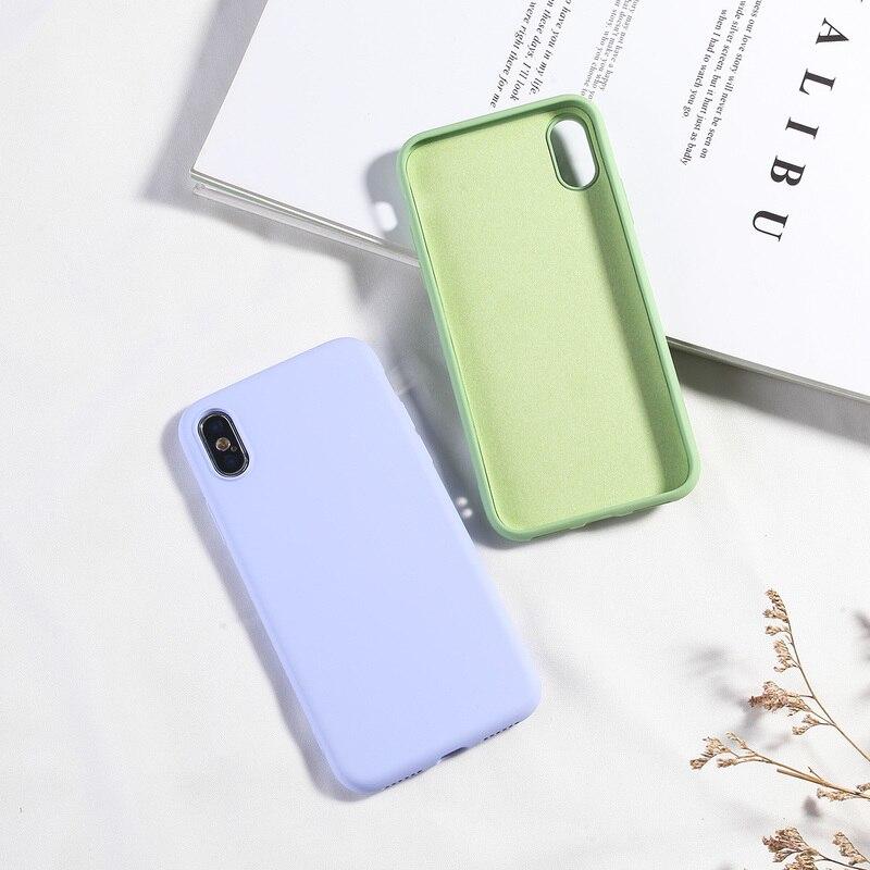Image 5 - Simples Doce Cor Caixa Do Telefone Para o iphone XS MAX X XR 7 8  Mais Suave Silicone TPU Tampa Traseira Para iPhone 6 6 s Mais NOVA Moda  CapaEstojos encaixados