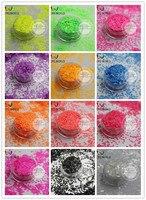 STAR Shape 12 Neon Bright Matte Colors Solvent Resistant Ultra Thin Nail Art Nail Polish Glitter
