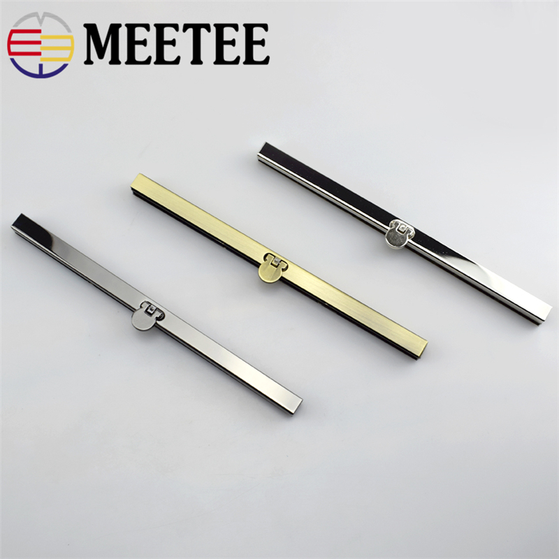 1pc Meetee 19cm Metal Purse Frame Bags Handle Clip Buckle Clasp with Screws for Wallet Making DIY Bags Accessories F1 74