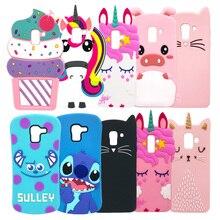 Silicone Case For Samsung Galaxy J6 J4 Plus J8 2018 J6+ J4+ 3D Cartoon Anime Phone Cover Coque Unicorn Minnie Mickey Mouse Cute