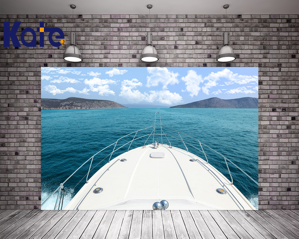 KATE 5x7ft Photo Background Sea Wedding Backdrops Blue Sky and Beach Background Yacht Wedding Backdrop for Photo Studio blue sky чаша северный олень