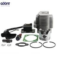 GOOFIT L7T Spark Plug Ignition Coil 44mm Cylinder Piston Kit For 49cc ATV And Pocket Bike