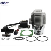 GOOFIT L7T Spark Plug Ignition Coil 44mm Cylinder Piston Kit for 49cc ATV and Pocket Bike ACCESSORY Group 46