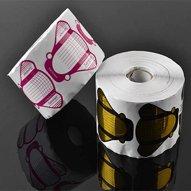 30 יחידות מכירה לחתוך רול גדול זבובים צורת טופס נייל DIY UV ג 'ל נייל פולני & נייל אמנות קישוטי ציפורניים Accessoires