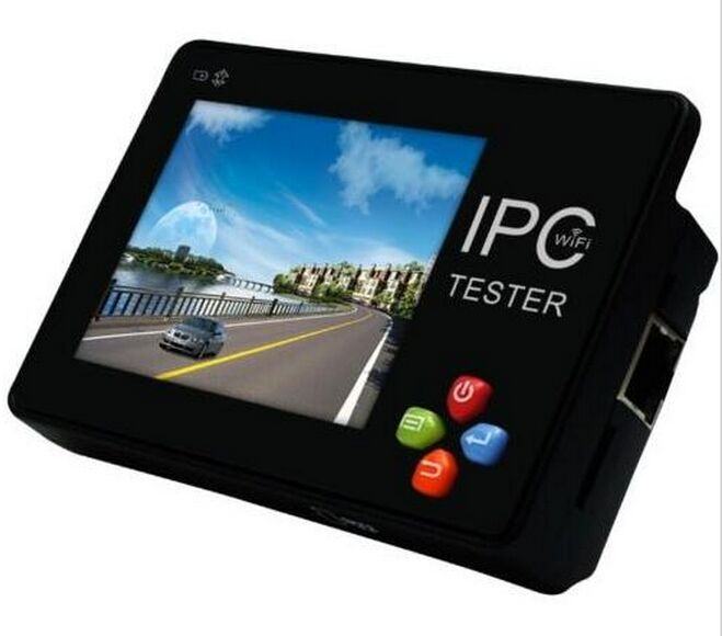 3.5 IP CCTV touch screen and key button tester monitor IP camera analog camera WIFI PTZ 12V1A output SD slo