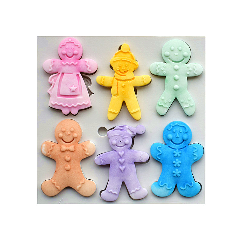 6 Cookies Dolls Silicone Molds, Christmas Sugar Cake Molds, Cake - Kitchen, Dining and Bar - Photo 1