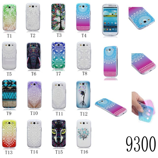 de80dc69d47 0.4mm Clear Protector Case Painting TPU Soft Cover Coque Funda For Samsung  Galaxy S3 I9300 / S3 Duos S3 Neo I9300i Capa