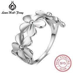 Elegante 925 prata esterlina flor anéis para as mulheres romântico daisy anel de casamento jóias presente do dia dos namorados (lam hub fong)
