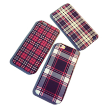 Ultra thin Phone cases For Apple iPhone 6s case 4.7″ PC Phone cover for iPhone 6 Plus case Scottish Tartan pattern hard cover