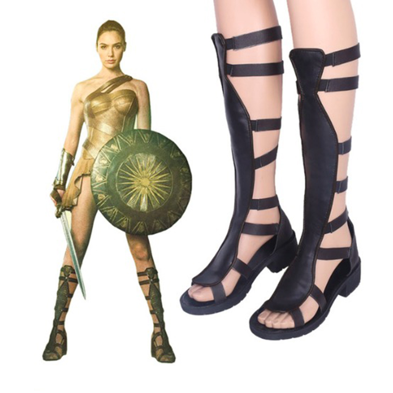 Princess Diana Cosplay Shoes Diana Cosplay Shoes Boots Halloween Party Women Cosplay Costumes Daily Leisure Shoes