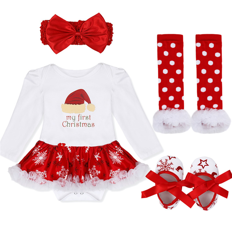 My 1st Christmas costumes Baby Toddler Girl Christmas Outfits Newborn Romper Jumpsuit dress Set with Headband Leg Warmer Shoes -in Clothing Sets from Mother ...  sc 1 st  AliExpress.com & My 1st Christmas costumes Baby Toddler Girl Christmas Outfits ...
