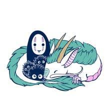 Pin de Haku sin rostro, insignia de soot sprite, hermosa decoración para fanáticos del anime