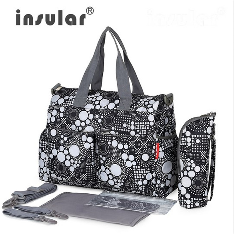 5 PCS / SET 2016 New Baby Nappy Bags Bag Diaper Mother Shoulder Bag Fesyen Maternity Mummy Handbag Waterproof Baby Stroller Bag