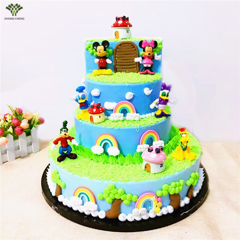 Cake Decoration Toys : 6PCS/1Set Mickey Mouse Minni Donald Duck Cake Topper Gifts ...