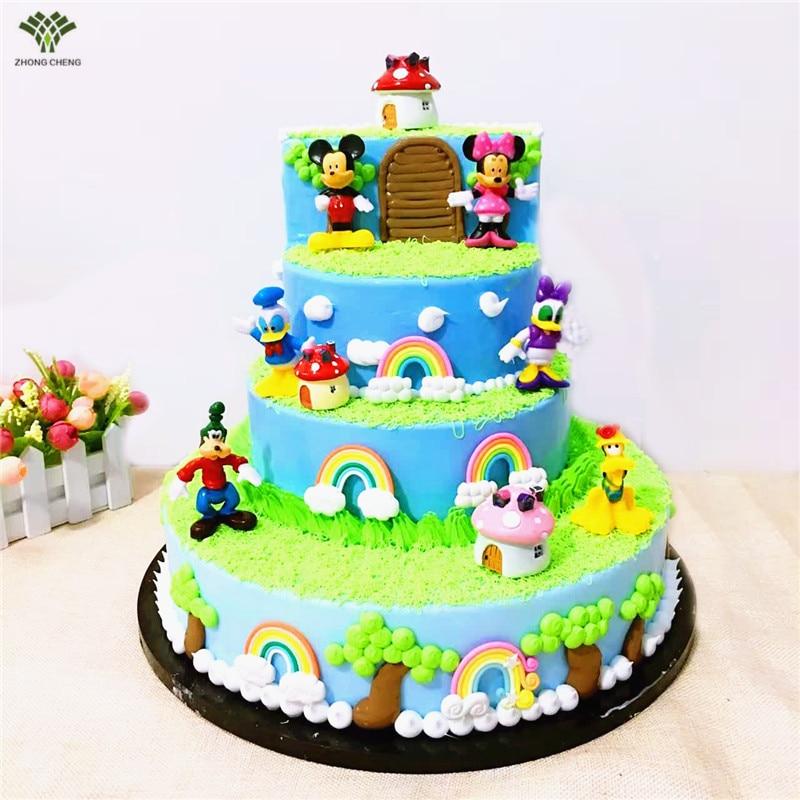 6PCS/1Set Mickey Mouse Minni Donald Duck Cake Topper Gifts ...