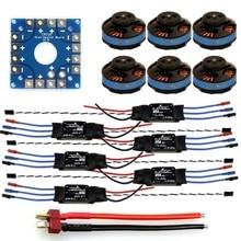 F04997-D JMT Assembled Kit: 30A ESC + Tarot Motor + KK ESC Connection Board Connectors Dean T Plug Wire for 6-Aix Hexacopter
