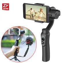 В наличии Smooth q ручной телефон видео стедикам стабилизатор bluetooth 3 ось gimbal поддержка вертикального selfie съемки для iphone 7 andriod