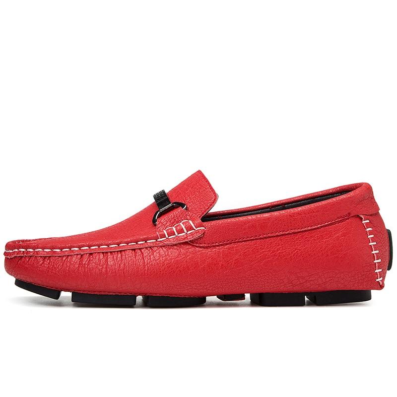 Mocassins Appartements Chaussures Hommes 3 Qualité Chaude Casual Véritable 4 1 En New Vente Cuir Roman Confortable Times 2 wBXqI