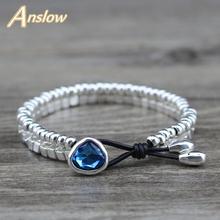Anslow модные ювелирные изделия цинковый сплав посеребренные