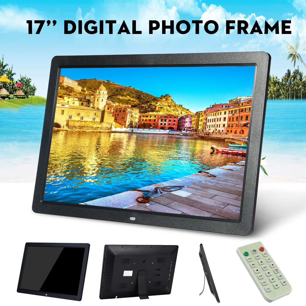 Multifunction Advertising Machine of Electronic Photo Frames,Black MP3 Music 1080P HD Video Playback with HDMI ZQG BEAUTEY 18.5 inch Digital Photo Frame