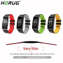 HORUG opaska na nadgarstek bransoletka fitness inteligentne aktywny opaska na nadgarstek z trackerem krokomierz duży ekran dotykowy OLED Smartband Monitor pracy serca