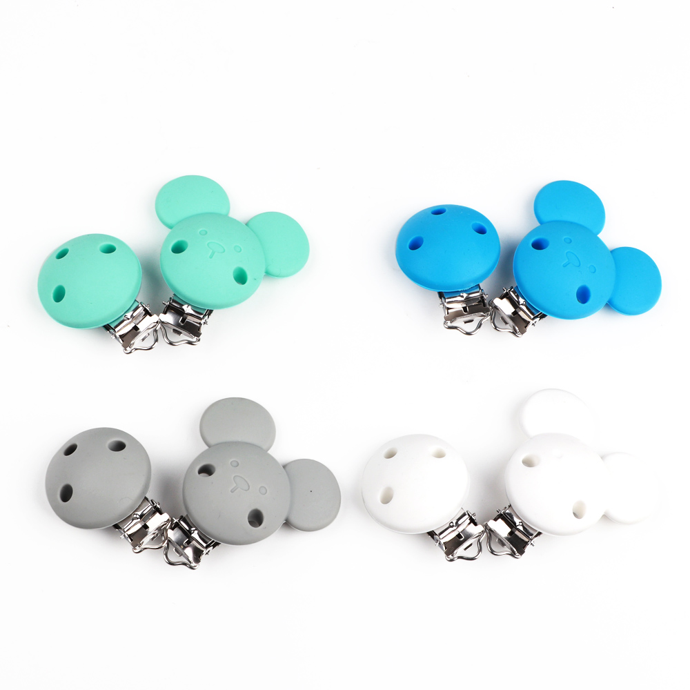 Image 3 - TYRY.HU 10pc Mickey Pacifier Dummy Teether Chain Holder Clips BPA Free Baby Nursing Safe Toys Accessories DIY Pacifier ClipsBeads   -