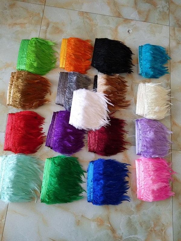 Envío gratis, 1 yarda de cinta de pluma de pavo natural de alta - Artes, artesanía y costura