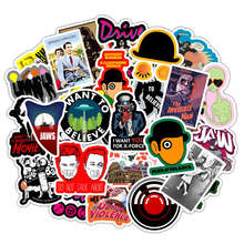 50 PCS Movie Stickers JAWS Drive KILL BILL A Clockwork Orange Waterproof Stickers for Laptop Luggage Skateboard Phone Decals