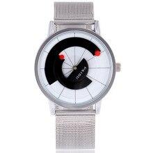 Gire el Dial de Diseño de Los Hombres Relojes Hombres Marca de Lujo Banda de Acero Inoxidable Reloj de Cuarzo de La Vendimia Vestido Reloj Relogio masculino TC2247